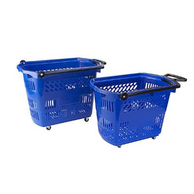 e1dc97f13 Handlekurv med 4 hjul blå 30 liter - Kapstad.com